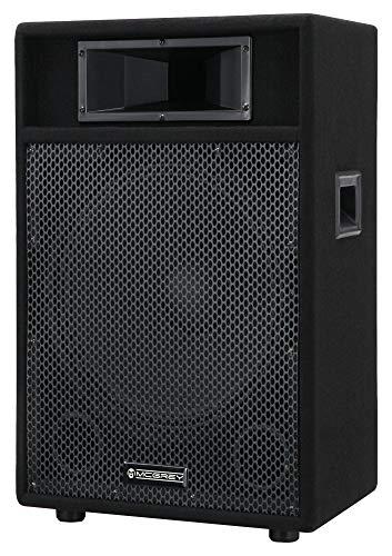 McGrey PA-115 15/2 passive Box (DJ, PA, 2-Wege Lautspercher, Trapezform, 100/200/400 Watt (RMS/Musikleistung/Peak), 15