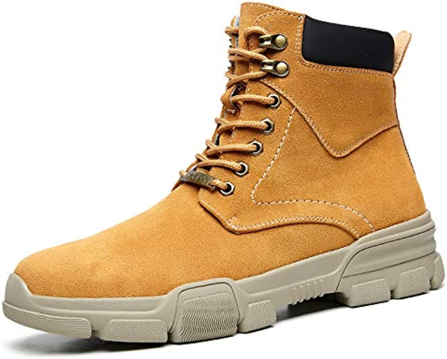 Shukun Men's boots Winter Men'S High-Top shoes In The Cotton shoes Short Boots Cotton Warm Tooling Boots Wild Boots Martin Boots Men