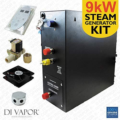 9kW Dampf Generator Kit für Dampfbad | Dampfgenerator 220V | Control Panel |