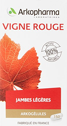 Arkopharma Vitiven Phytothérapie Cure Arkogélules Vigne Rouge Flacon de 150 Gélules