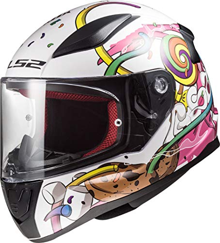 LS2-10353J2114M/162 : LS2-10353J2114M/162 : Casco integral SOLID FF353J CRAZY POP COLOR BLA/ROS TALLA M
