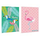 Home Collection Lot de 2 Albums Photo, Multicolores, 16 cm x 12 cm