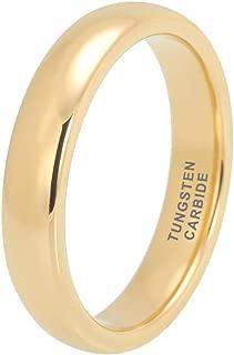 iTungsten 2mm 4mm 6mm 8mm 18K Gold/Rose Gold/Black/Blue Tungsten Rings for Men Women Wedding Bands Domed Polished Shiny/Brushed Finish Comfort Fit