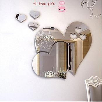 Admirable Kangrunmy 3D Sticker Muraux Amour Miroir Sticker Mural Autocollant PY-21
