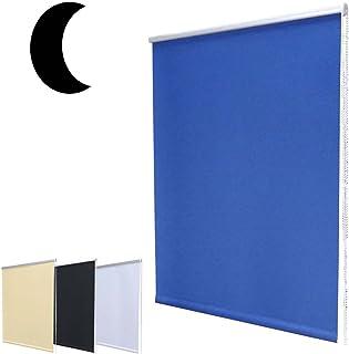 Hossi's Wholesale Noche Oscuro–Estor Mini DKL sin Agujeros Incluye Soportes de Sujeción/Azul 80x 160cm (Ancho x Altura)