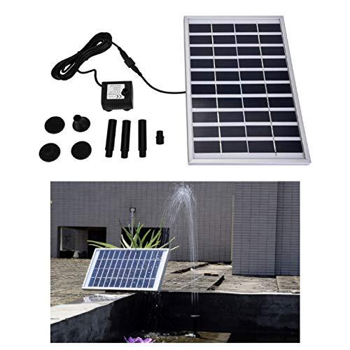 Cafopgrill Bomba de Fuente Solar Al Aire Libre Bomba de Fuente accionada por energía Solar Sin Cepillo en Miniatura de 5W para Estanque pequeño, pecera, Patio, decoración de jardín