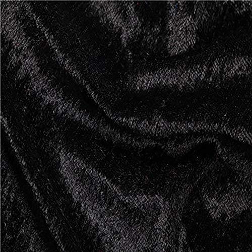 MUYUNXI Tela De Terciopelo Suave para Coser De Chaquetas Decoración Decoración del Hogar Cortinas Tapicería Vestido Sillas 160 Cm De Ancho Vendido por Metro(Color:Negro)