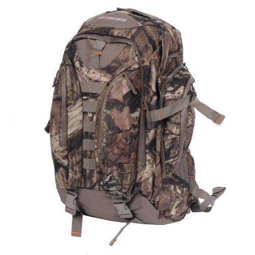 Rucksack mit langen Trägern, Eichenholz, Camouflage, groß, mit wasserdichten Reißverschlüssen