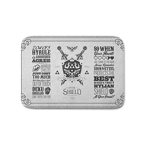 Society6 Legend Of Zelda Hylian Shield Foundry Logo Iconic Geek Line Artly Bath Mat 17″ x 24″