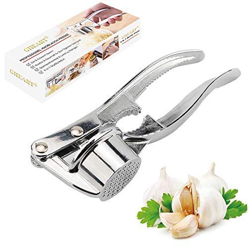 Knoblauchpresse Spülmaschinenfest, Garlic Press, Knoblauchschneider Rostfrei Knoblauch Crusher Praktischer Küchenhelfer