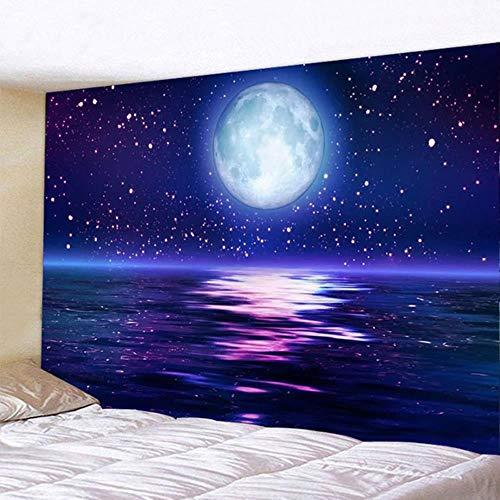 Tapiz colgante de pared Sea Moonsun impreso en 3D para decoración de dormitorios y salas de estar (150 cm x 100 cm / 150 cm x 130 cm / 200 cm x 150 cm)