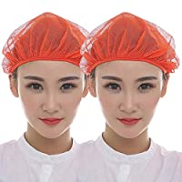 Yuena Care 衛生キャップ 帽子 衛生 衛生帽 給食帽 2枚セット 帽 クリーン キャップ 髪 ネット 綿 飲食 工場 割烹 業務用 料理 レディース メンズ キッチン 男女兼用 作業用