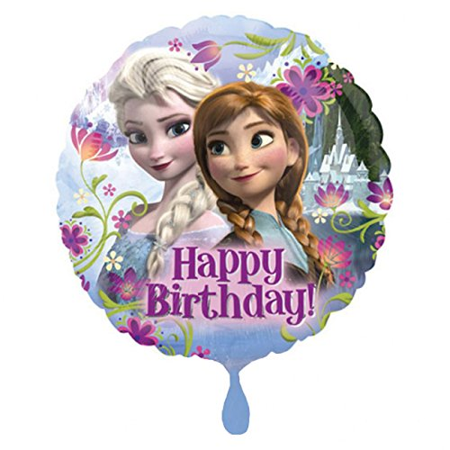 amscan 2900901 Eiskönigin Folienballon Frozen Happy Birthday, Multi