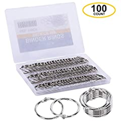 DocSAFE LOCK. 100 Loose Leaf Binder Rings 1 Inch Set. Durable nickel-plated steel and drop proof locking mechanism means our binder rings won't accidentally release docs like other binder ring sets SPEED CLASP. Smoothest OPEN & CLOSE 1 inch binder ri...