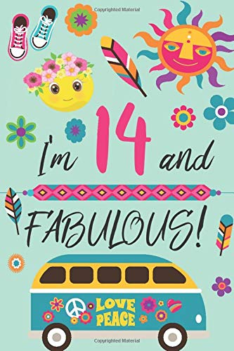 I'm 14 and Fabulous: Retro Lined and Blank Journal Happy Birthday Book for Teen Girls