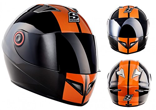 SOXON ST-666 Deluxe Night · Scooter Casco Integrale Sport Urbano Full