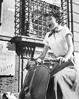 Audrey Hepburn 16x20 Poster as Princess Ann in Roman Holiday screaming riding Vespa in Rome