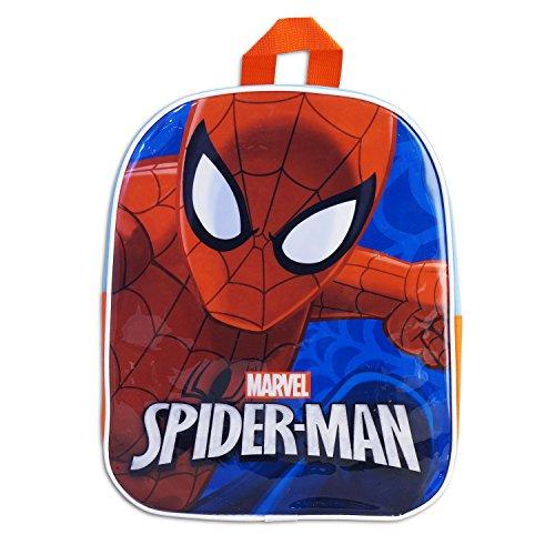 Zaino Zainetto Asilo 28 cm - Stampa Plastificata Peronaggi Cartoni Animati - Disney Marvel Nickelodeon - Prodotto Originale [ Marvel Spider-Man ]