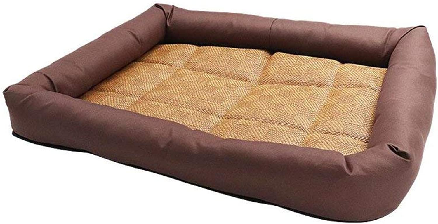 Pet Bed Beds Breathable Cooler Pad Cats and Kennels Pet Bed WearResistant Durable Waterproof and Moistureproof (color   Brown)