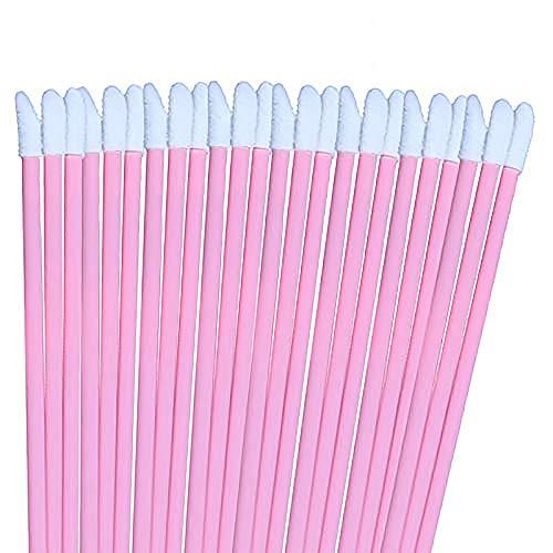 200PCS Roze Lip Gloss Applicators Verwijderbare Lip Borstels Lippenstift Glans Wands Applicator