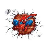 Enfants Stickers MURAUX Grand Disney Mickey Mouse Minnie Autocollants Filles Chambre DE Mur Chambre Decor Décoration Sticker Adhesif Mural Géant Répositionnable (Spiderman Shooting, 45 x 50)