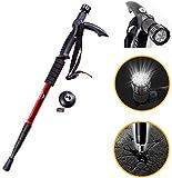 Lista Lista Lista045 Adjustable 9 LED Anti Shock Trekking Hiking Pole Vault Stick