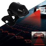 Car laser fog light car and motorcycle GM rear end alarm fog light brake parking anti-collision safety warning light (Heart Pattern)
