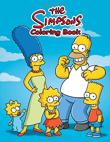 The Simpsons Coloring Book: A great Simpsons coloring book for kids. 50+ coloring page full off Simpson images to color