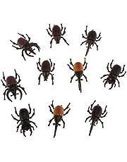Sharplace Escarabajos de Insectos de Plástico Vívido, Modelo de Réplica de Juguete, 10 Unids / Lote, Accesorios para Bromas Y Bromas