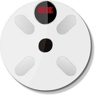 zhangcheng Balanza electrónica de pesaje Humano Báscula Inteligente Báscula de energía Luminosa Báscula electrónica Multifuncional Báscula Inteligente Bluetooth para el hogar