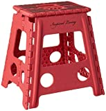 Inspired Living Step Heavy Duty folding-stools, 16' High, RED
