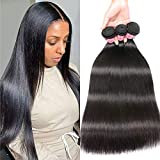 Nadula 10A 100% Unprocessed Virgin Human Hair 3 Bundles Brazilian Straight Silky Remy Hair Weave Double Weft Natural Color 18 20 22 Inch