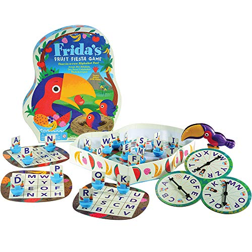 Educational Insights Frida's Fruit Fiesta Alphabet Game, Preschool & Toddler Board Game, Letter Recognition, Fine Motor Skills, Ages 4+