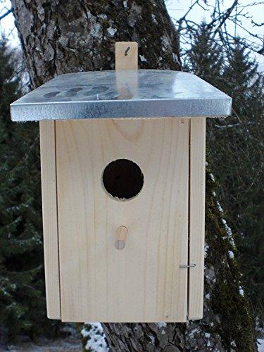 Dekorativer (N6) Nistkasten Zinkdach Groß-Vogelhaus-Vogelhäuschen-sauberste Verarbeitung-Vogelhaus Garten Deko