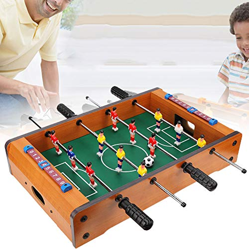 Foosball Tabletop Games and Accessories,Soccer Game,Portable Multi Person Foosball Soccer for Game Rooms, Arcades, Bars, for kids,Adults, Family Night - So Funny(Wood Color)