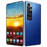 FJYDM Teléfono Móvil, Android 10.0, Teléfono Inteligente 5G Desbloqueado, Teléfonos De Pantalla Completa De 7.2 Pulgadas, Carga Rápida De Batería Grande De 5600Mah, Cámara De 21MP + 42MP,Azul