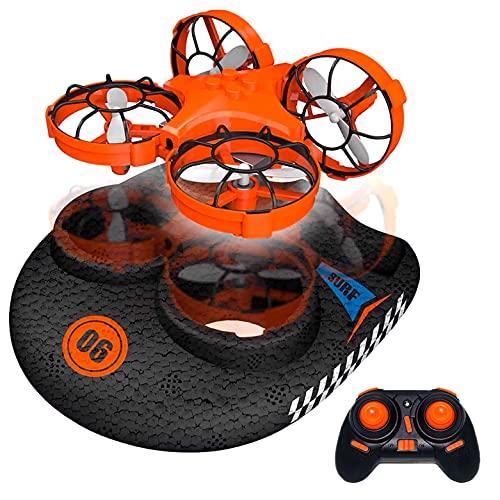 drone da terra JUGUETECNIC │ Hovercraft telecomandato │ Veicolo 3 in 1 (Terra