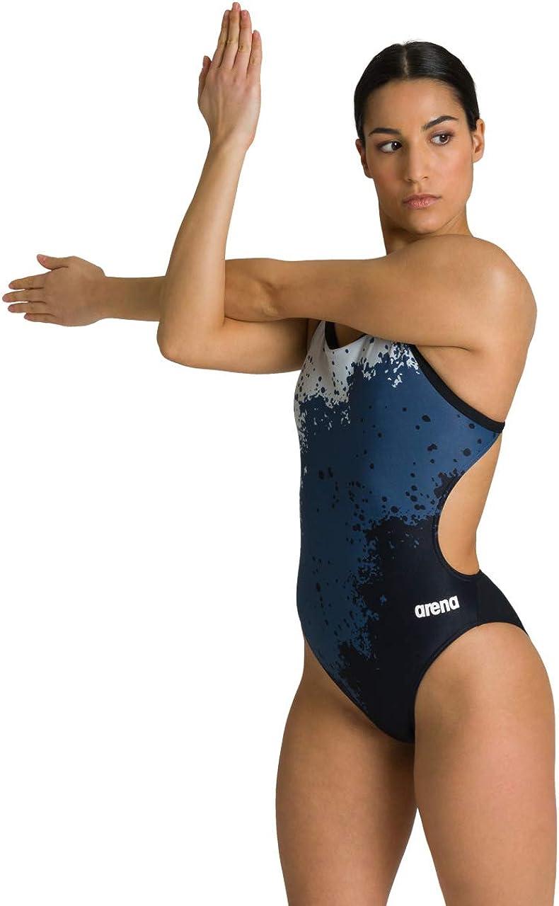 Arena Women's Spraypaint Challenge Piece 全国どこでも送料無料 品質保証 One Swimsuit Back
