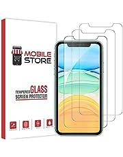 [3 Adet] mobile store Glass Apple iPhone 11 Ekran Koruyucu Tamperli Cam, iPhone XR ile Uyumludur [9H Sertlik] [Hava Kabarcığı Bırakmaz]