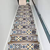 Tissting 13 Piezas Etiquetas Engomadas del Azulejo, Cocina Impermeable Autoadhesivo Fondos de Pantalla, Hogar Pegatinas de Escalera Decoración Papel Tapiz Escalera