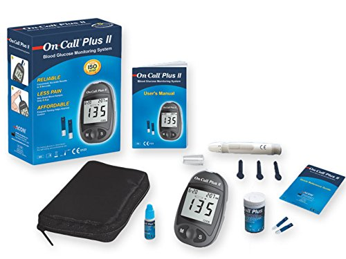 Gima Misuratore Glicemia On Call Plus II con Kit completo - Lettore della Glicemia in Soli 5 Secondi - Tecnologia Avanzata con Biosensore - Italiano
