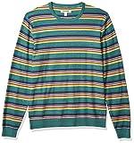 Goodthreads Soft Cotton Crewneck Summer Sweater Suéter, Rayas Multicolores, M