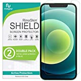 (2-Pack) RinoGear Screen Protector Compatible with iPhone 12 or 12 Pro Case Friendly Accessory Full Coverage Clear TPU Film