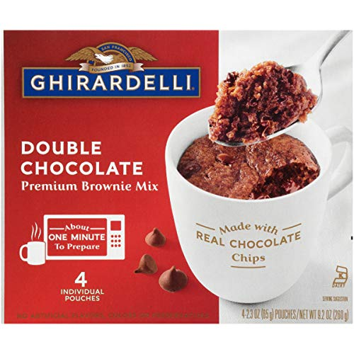Ghirardelli Mug Brownie Mix, Double Chocolate, 9.2 Ounce, Pack of 6 boxes,