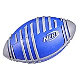 NERF Weather Blitz Foam Football for All-Weather Play -- Easy-to-Hold Grips – Great for Indoor and Outdoor Games -- Silver