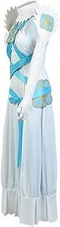 COSTHAT Fire Emblem Aqua Azura White Cosplay Full Set Suit Dress