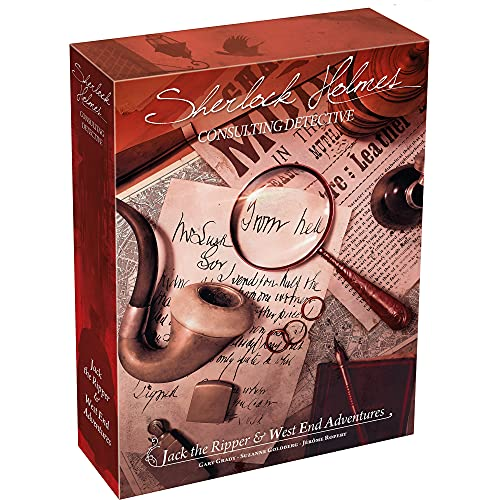 Sherlock Holmes Consulting Detective - Jack the Ripper & West End Adventures Board Game | Mystery Game for Teens & Adults | Ages 12+ | 1-8 Players | Average Playtime 90 Min. | Made by Space Cowboys