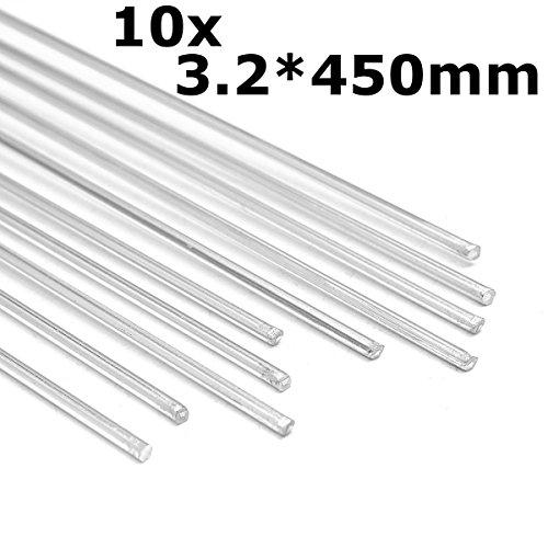 MJJEsports 10 stks 450mm Aluminium Zilver Lassen Staven Gereedschap Voor Scheuren Pools & Verf