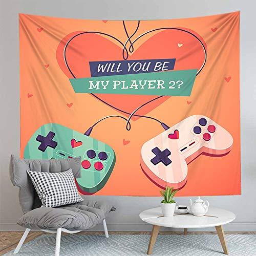PPOU 3D Gamers Print Wall arazzo Modello esplosione Gamepad Neon decorazione murale sfondo panno arazzo panno A9 130x150cm
