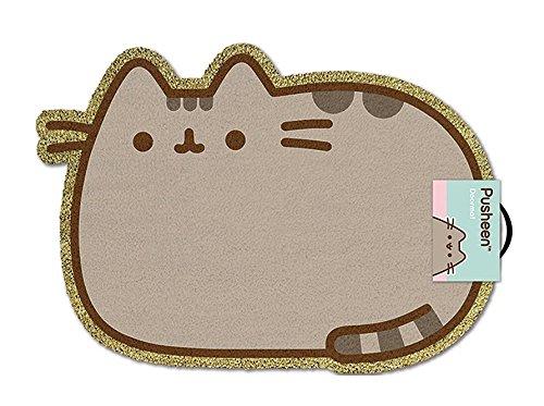 Close Up Pusheen The Cat Kokosfaser Fußmatte mit PVC Rückseite, 40 x 57 cm, Türmatte in Pusheen-Katzen Form